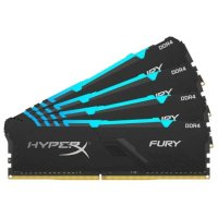 Оперативная память DDR4 64GB (4x16GB) PC-21333 (2666MHz) KINGSTON HYPERX FURY RGB HX426C16FB4AK4/64 - Интернет-магазин Intermedia.kg