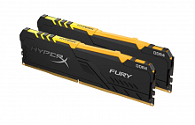Оперативная память DDR4 16GB (2x8GB) PC-25600 (3200MHz) Kingston HYPERX FURY RGB HX432C16FB3AK2/16 - Интернет-магазин Intermedia.kg